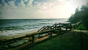 Nascer do sol da praia de Moffat imagens de stock royalty free