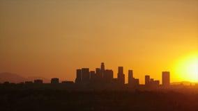 Nascer do sol da skyline de Los Angeles video estoque