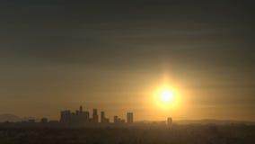 Nascer do sol da skyline de Los Angeles filme