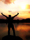 Nascer do sol da vitória Fotografia de Stock Royalty Free