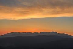 Nascer do sol das inclinações do esqui de Molina do La Fotos de Stock Royalty Free