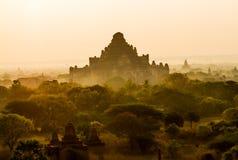 Nascer do sol de Bagan foto de stock royalty free