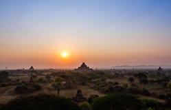 Nascer do sol de Bagan foto de stock
