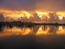 Nascer do sol de Bahamas foto de stock