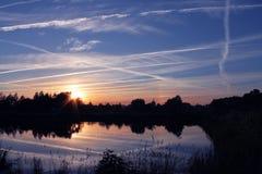 Nascer do sol de Bielorrússia Imagem de Stock Royalty Free