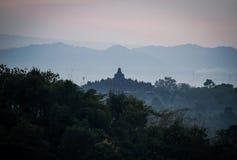 Nascer do sol de Borobudur Imagens de Stock Royalty Free