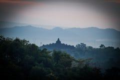 Nascer do sol de Borobudur Fotografia de Stock Royalty Free