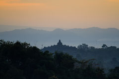 Nascer do sol de Borobudur Fotos de Stock Royalty Free