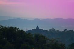 Nascer do sol de Borobudur Foto de Stock