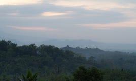 Nascer do sol de Borobudur Imagens de Stock