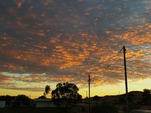 Nascer do sol de Coober Pedy South Australia as cores naturais do interior Fotos de Stock