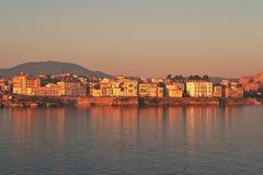 Nascer do sol de Corfu Fotografia de Stock