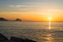 Nascer do sol de Costa Blanca Imagens de Stock