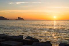 Nascer do sol de Costa Blanca, Altea Imagem de Stock