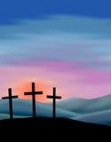 Nascer do sol de Easter ilustração stock