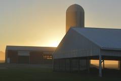Nascer do sol de Farmsite Fotografia de Stock Royalty Free