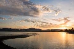 Nascer do sol de Fiji imagens de stock royalty free