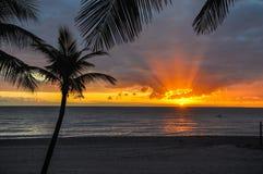Nascer do sol de Florida fotografia de stock