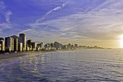Nascer do sol de Ipanema Imagem de Stock Royalty Free