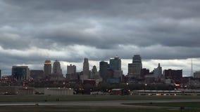 Nascer do sol de Kansas City Missouri Clay County Downtown City Skyline filme