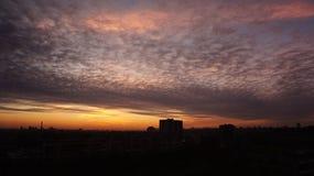 Nascer do sol de Kiev Fotos de Stock