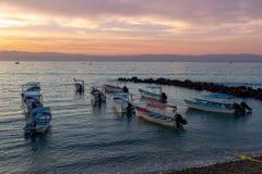 Nascer do sol de México em Punta De Mita foto de stock