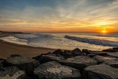 Nascer do sol de Manasquan NJ Imagens de Stock