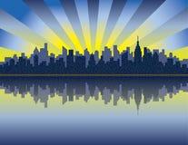 Nascer do sol de Manhattan ilustração stock