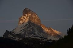 Nascer do sol de Matterhorn Fotos de Stock Royalty Free