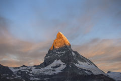 Nascer do sol de Matterhorn Foto de Stock Royalty Free