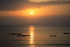 Nascer do sol de Mombassa Foto de Stock Royalty Free