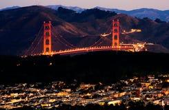 Nascer do sol de San Francisco imagens de stock