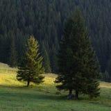 Nascer do sol de surpresa na aldeia da montanha calma, outono fotografia de stock royalty free