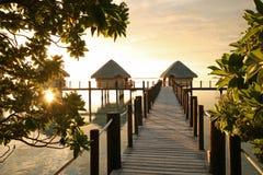 Nascer do sol de Tahitian Imagens de Stock Royalty Free