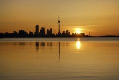 Nascer do sol de Toronto foto de stock