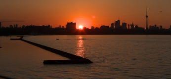 Nascer do sol de Toronto Imagem de Stock