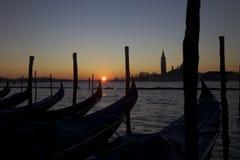 Nascer do sol de Veneza Fotos de Stock Royalty Free