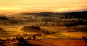 Nascer do sol de Wiltshire imagem de stock