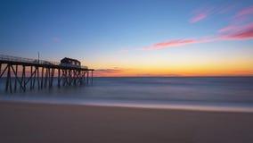 Nascer do sol do cais da pesca de Belmar Imagem de Stock Royalty Free