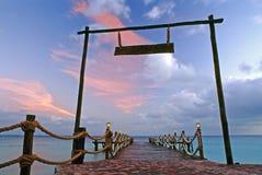 Nascer do sol do Cararibe Imagens de Stock Royalty Free