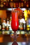 Nascer do sol do cocktail em uma tabela clara Fotos de Stock Royalty Free