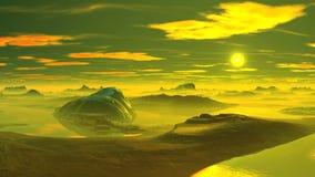 Nascer do sol do conto de fadas em um planeta estrangeiro video estoque