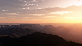 Nascer do sol do deserto Imagem de Stock