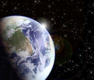 Nascer do sol do espaço Foto de Stock Royalty Free