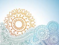 Nascer do sol do Henna Imagem de Stock