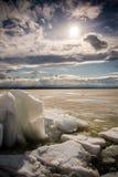 Nascer do sol do inverno Foto de Stock