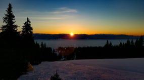 Nascer do sol do inverno Foto de Stock Royalty Free