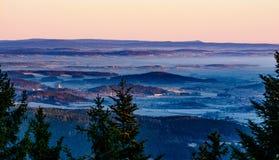 Nascer do sol do inverno na montanha III Imagem de Stock Royalty Free