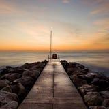 Nascer do sol do inverno, Sandbanks, Dorset, Reino Unido imagem de stock royalty free
