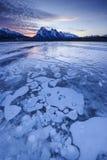 Nascer do sol do inverno sobre a planície ER de Kootenay Fotos de Stock Royalty Free